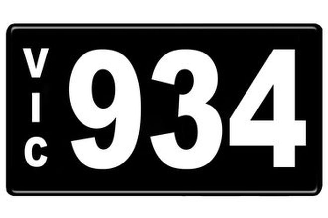 Number Plates - Victorian Numerical Number Plates '934'