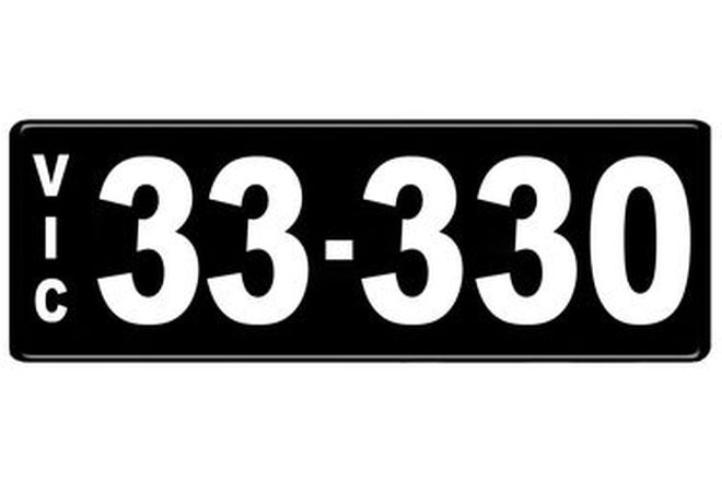 Number Plates - Victorian Numerical Number Plates - 33.330