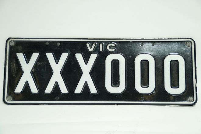 Number Plates - Victorian Numerical Number Plates 'XXX-000'