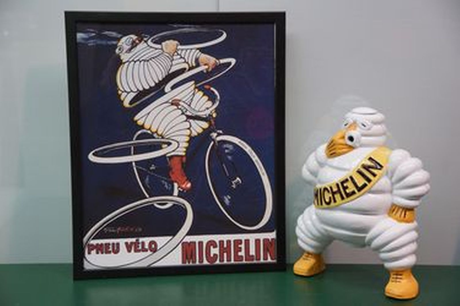 Michelin Man and Print (Reproduction)
