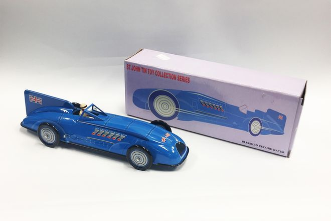 Model Tin Car Schylling Collector Series - Blue Bird