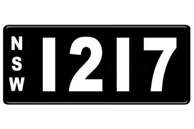 Number Plates - NSW Numerical Number Plates '1217'