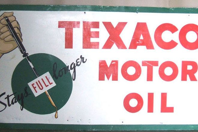 Enamel Sign -