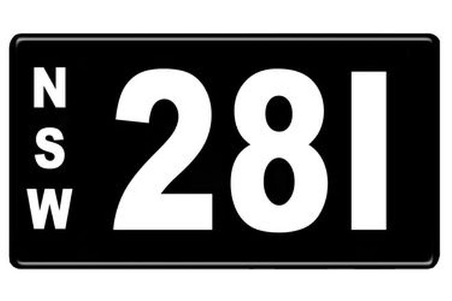Number Plates - NSW Numerical Number Plates '281'