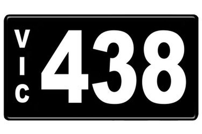 Number Plates - Victorian Numerical Number Plates '438'