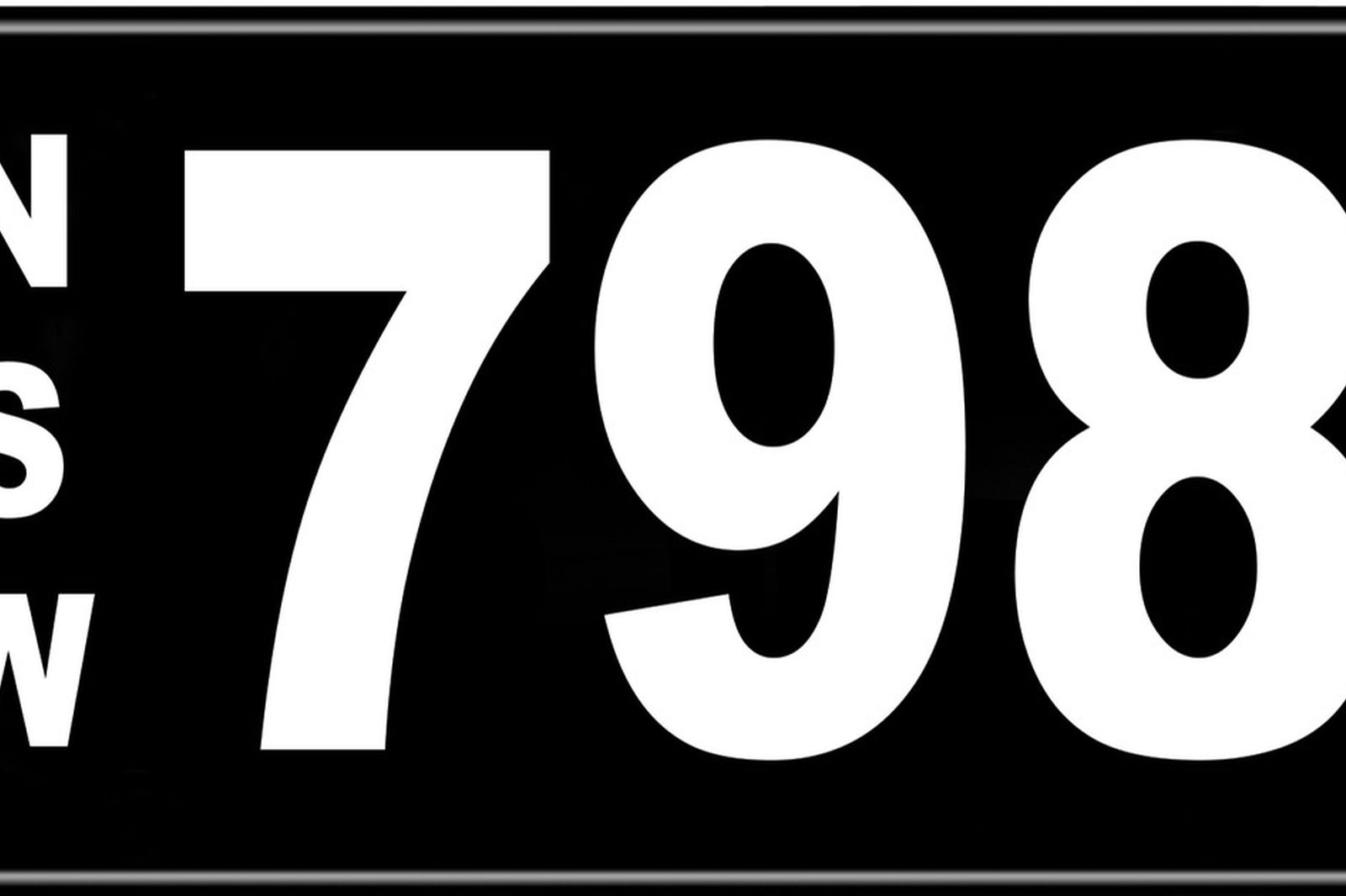 Number Plates - NSW Numerical Number Plates '798'