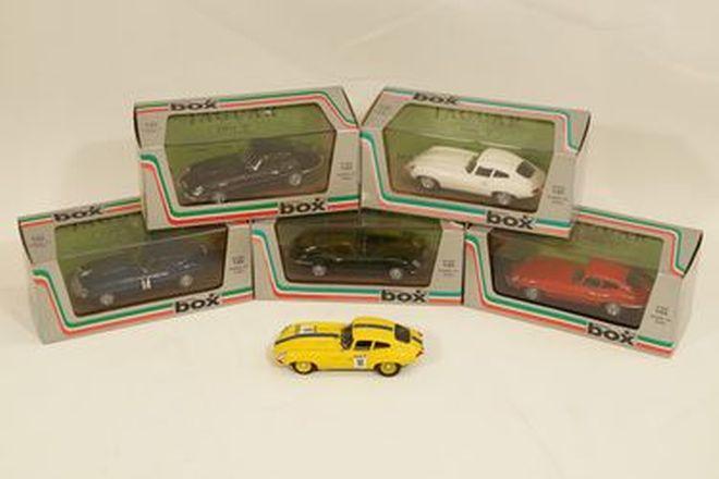 Model Cars x 6 - Model Box, Italy diecast Jaguar E-Type Series 1 Coupe