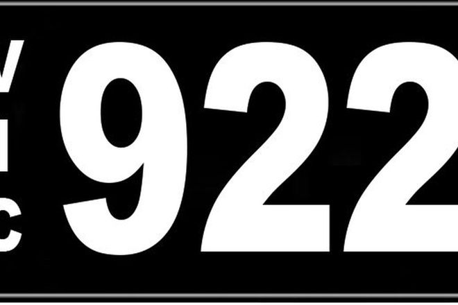Number Plates - Victorian Numerical Number Plates '922'