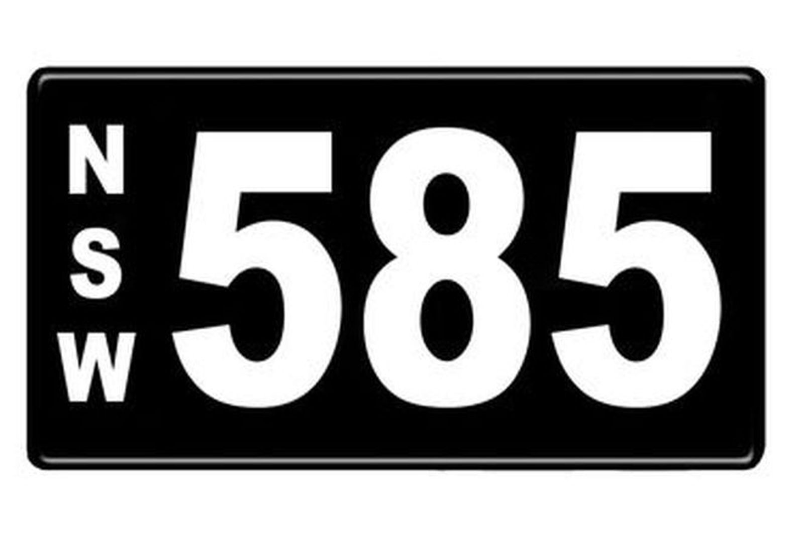 Number Plates - NSW Numerical Number Plates '585'