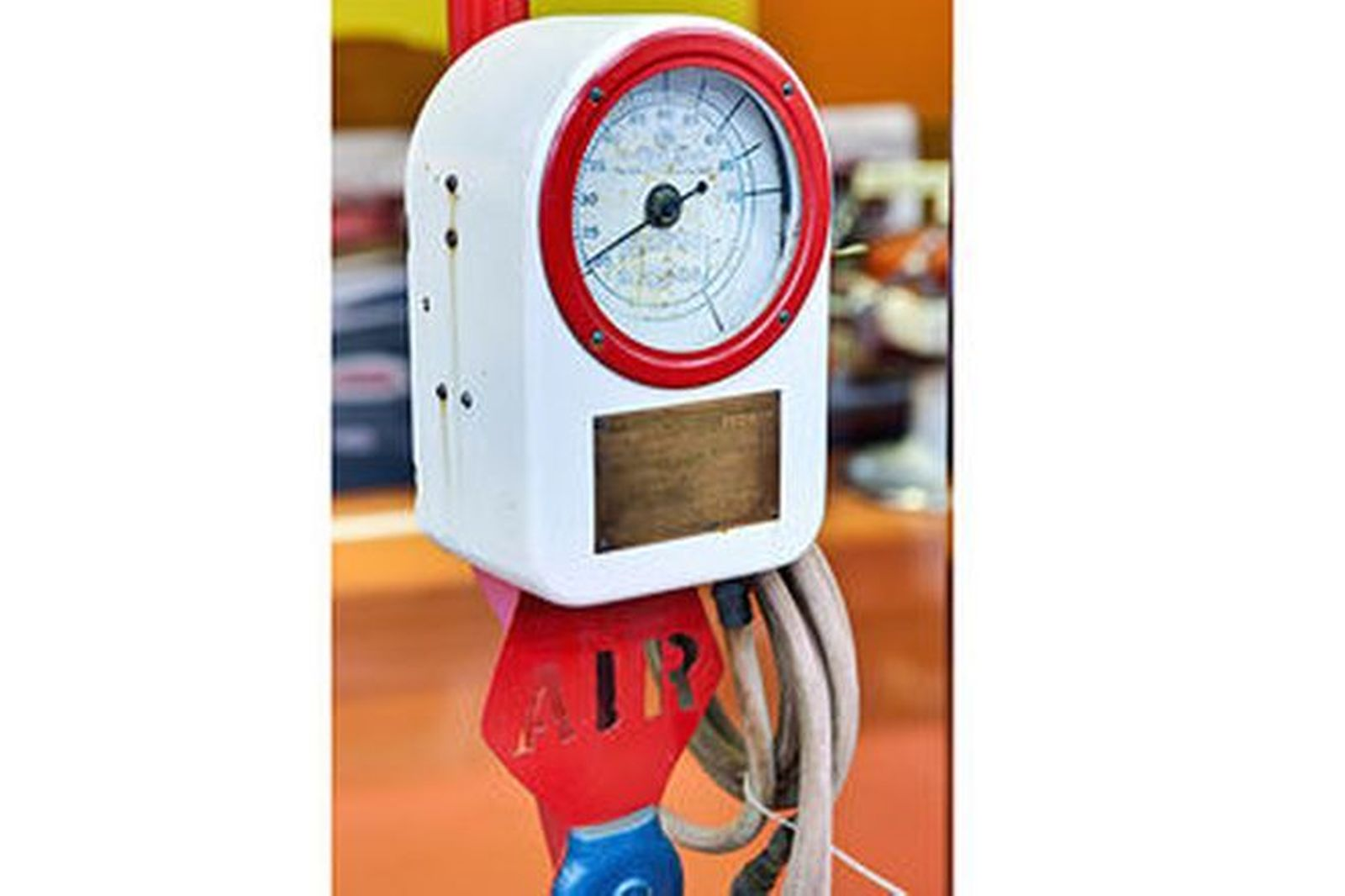 Air Pump - Eco Tire Inflator with with Dial Face on stand
