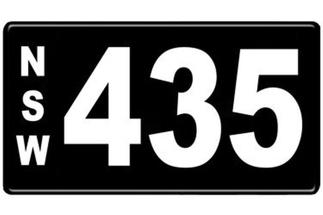 Number Plates - NSW Numerical Number Plates '435'