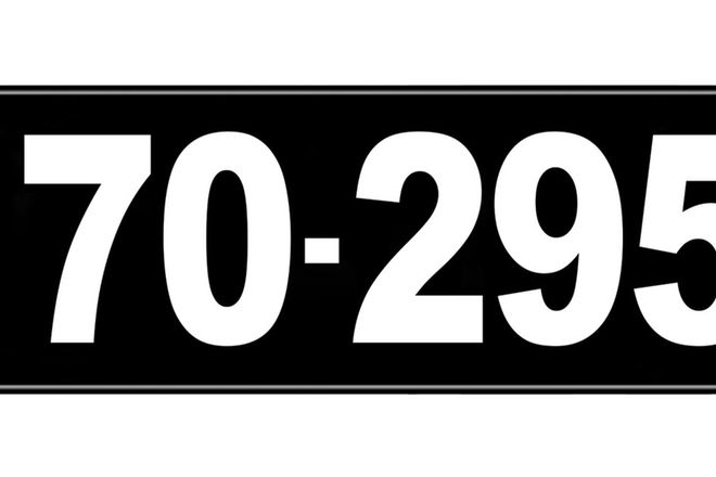 Number Plates - Victorian Numerical Number Plates '70.295'
