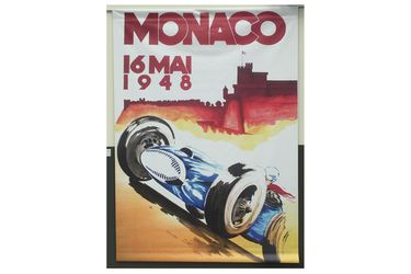 1948 Monaco Vinyl Poster