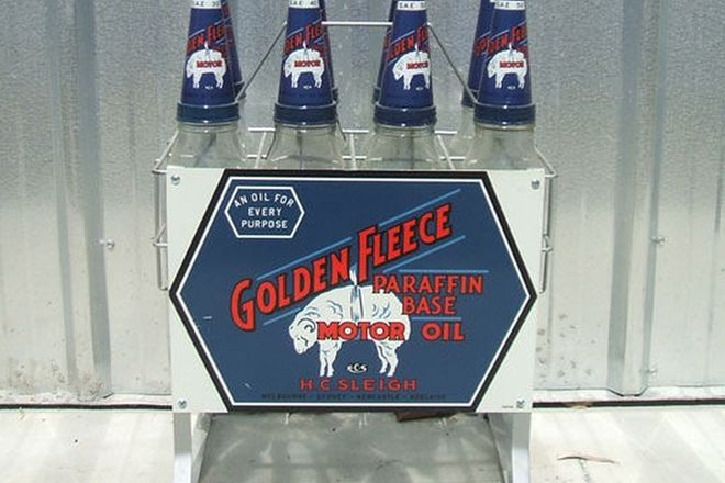 Oil Bottle Rack- Golden Fleece 8 bottle