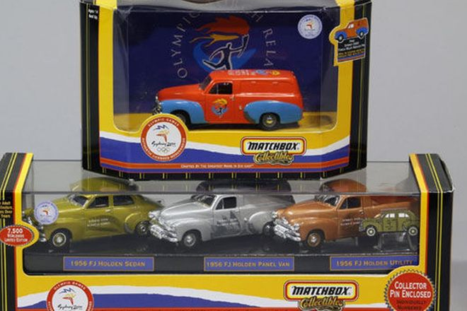 Model Cars - 4 x Holden FJ Matchbox Collectables - Sydney 2000 Olympics (1:43 Scale)