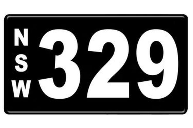 Number Plates - NSW Numerical Number Plates '329'