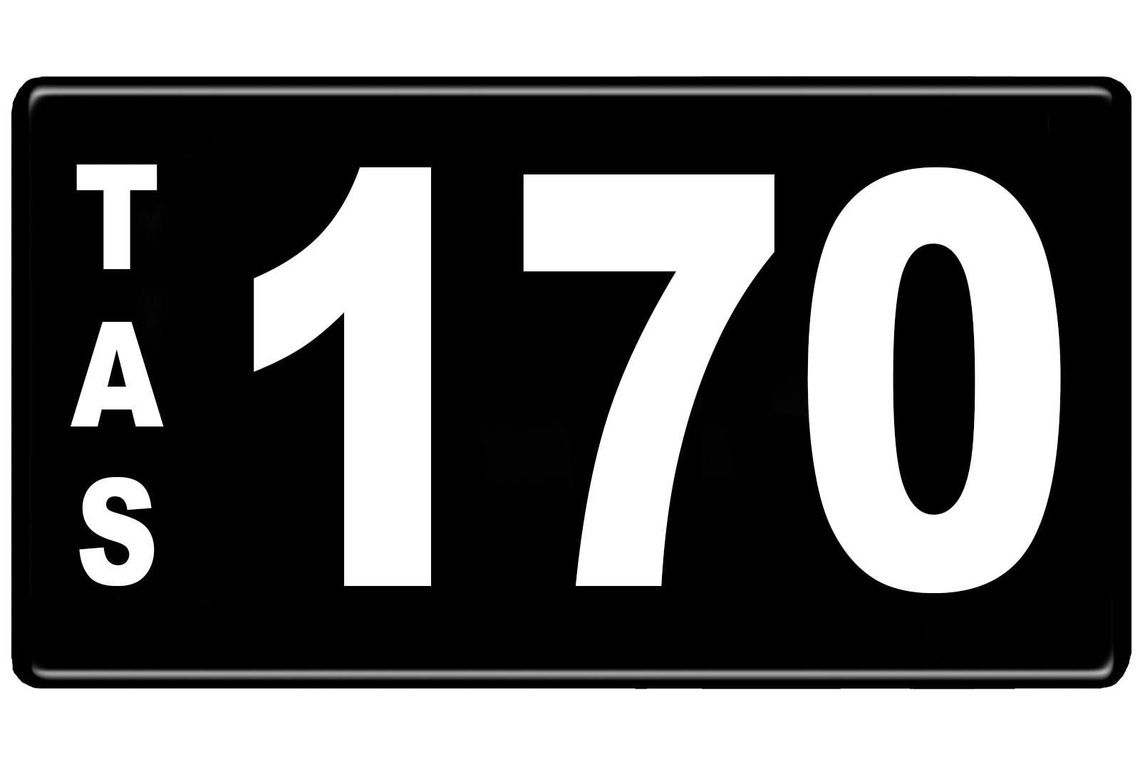Number Plates - Tasmanian Numerical Number Plates '170'