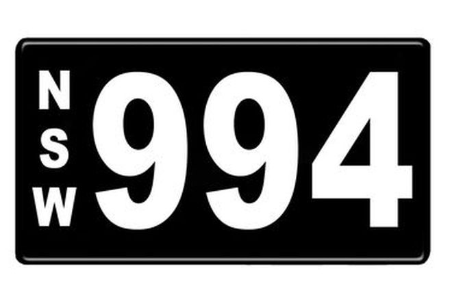 Number Plates - NSW Numerical Number Plates '994'
