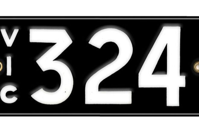 Victorian Number plates '324'