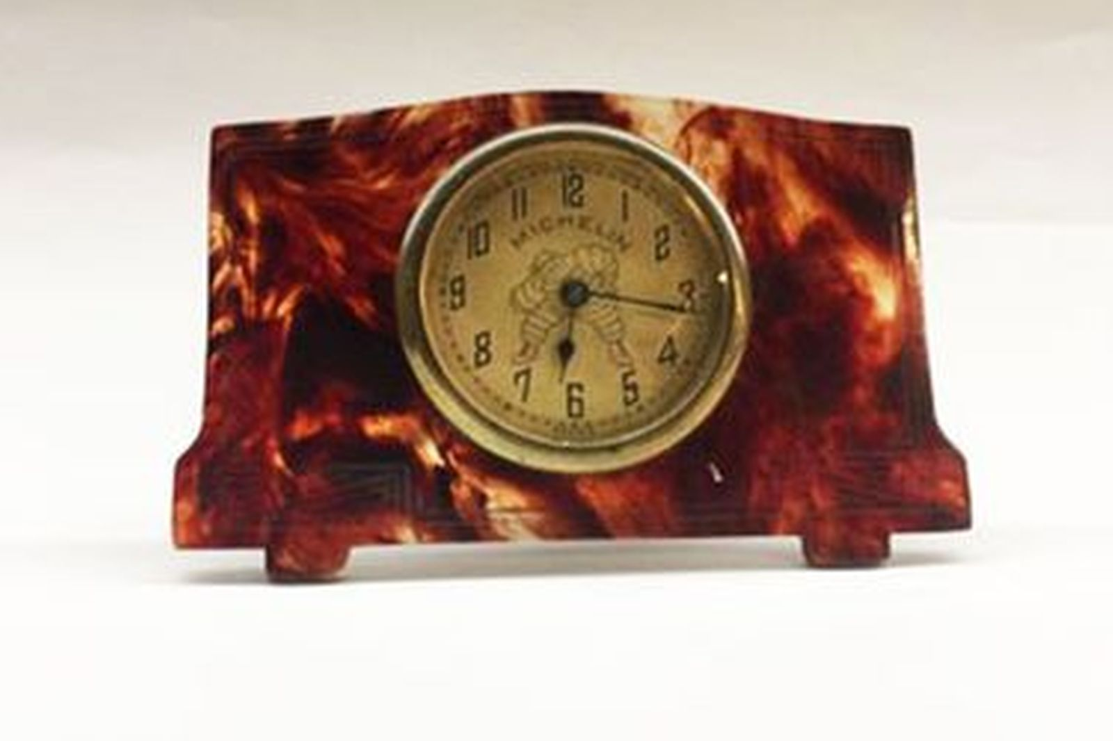 1920s Michelin Tortoise Shell Travel Clock (80mm wide)