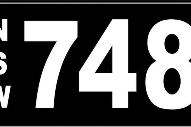 Number Plates - NSW Numerical Number Plates '748'