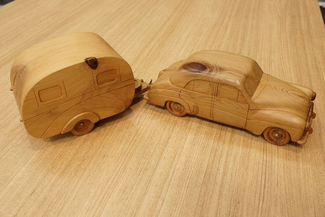 Wooden Hand Made FX and Trailer Model