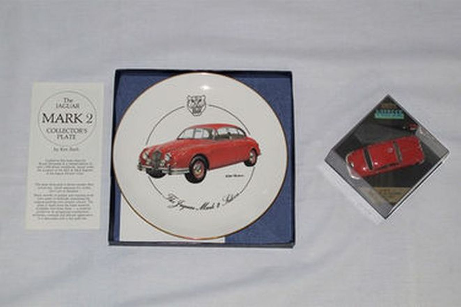 Books x 11 - Original Series Books & Jaguar 240 Model (scale 1:43) and Collector Plate
