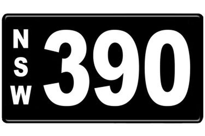 Number Plates - NSW Numerical Number Plates '390'