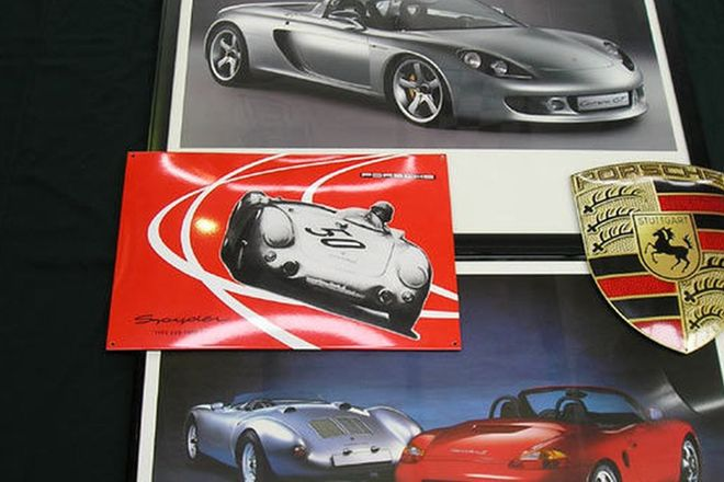 Enamel Signs & Framed Prints - Porsche Signs x2 & Porsche Prints x2