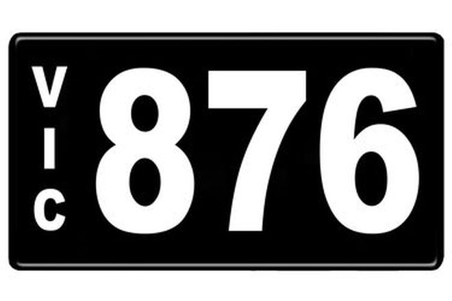 Number Plates - Victorian Numerical Number Plates '876'