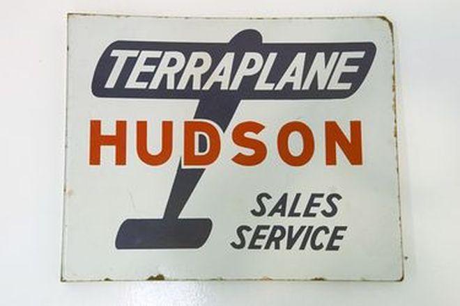 Double Sided Enamel Sign - Hudson Terraplane Dealership Sign (56 x 46cm)