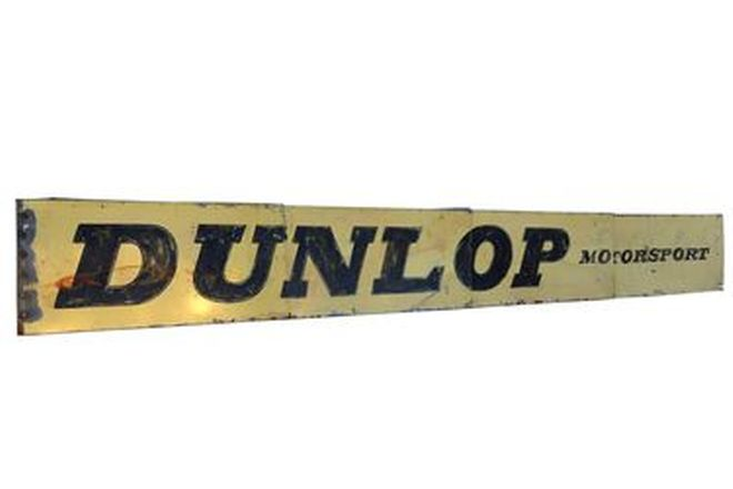 Tin Sign - 'Dunlop Motorsport' (7.4 x 0.85m)