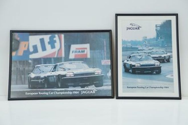 Framed Prints x 2 - European Touring Car Championship 1984 featuring Jaguar XJ-S #7 Race car