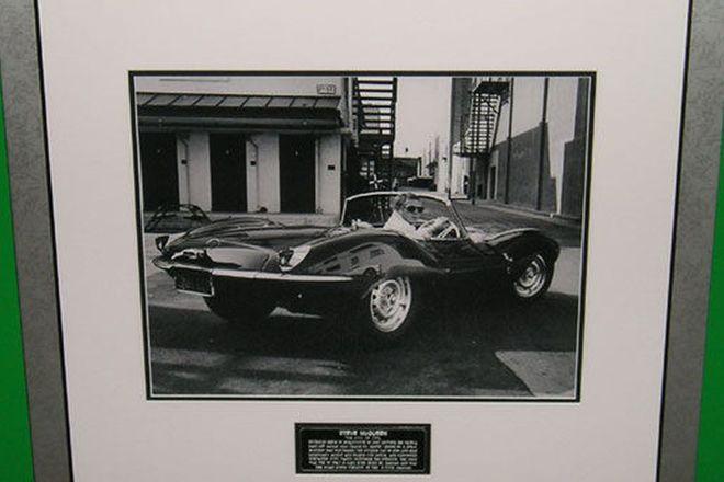 Framed Print - Steve McQueen in his Jaguar XK SS (Limited Release)