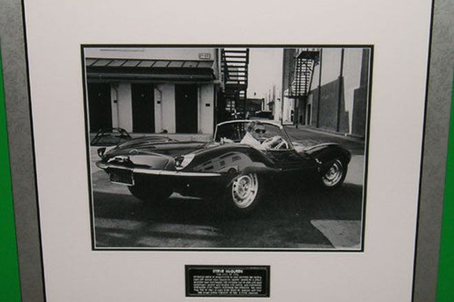 Framed Print - Steve McQueen in his Jaguar XK SS (Limited Release)