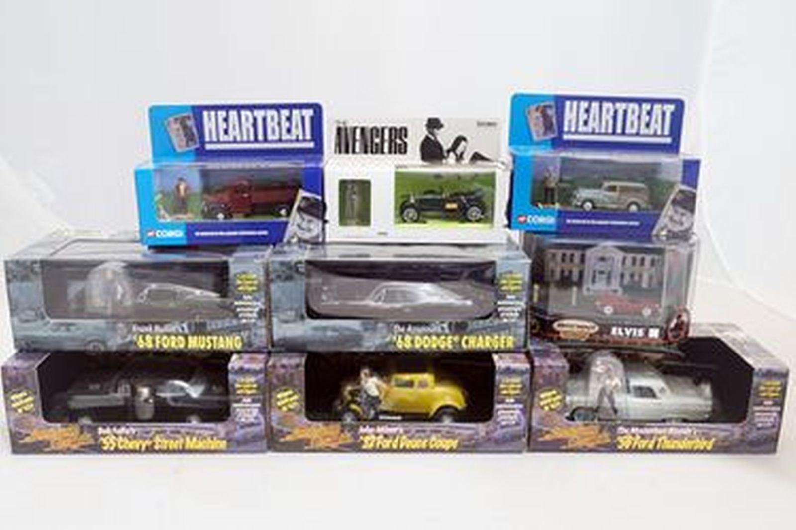 Model Cars - 9 x Assorted Movie Cars Revell, Corgi, Matchbox (Scale 1:43 & 1:25)