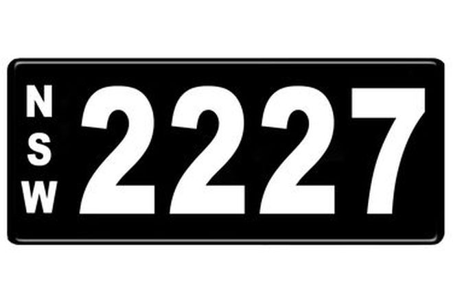 Number Plates - NSW Numerical Number Plates '2227'