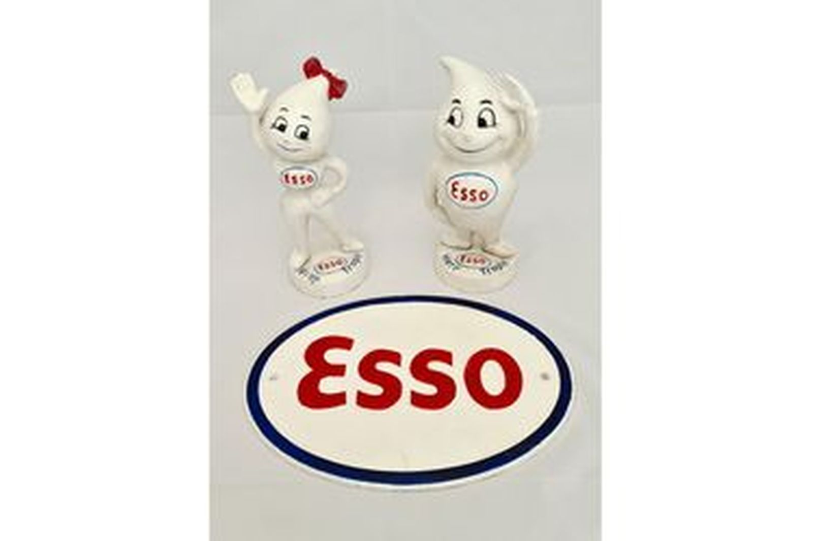 Mr & Mrs Esso Drip Head & Sign (Reproduction) 240mm (H) x 330mm (W)