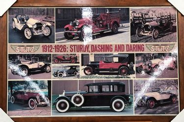 Framed Poster - 1912 to 1926 Stutz (Size 40 by 27'')