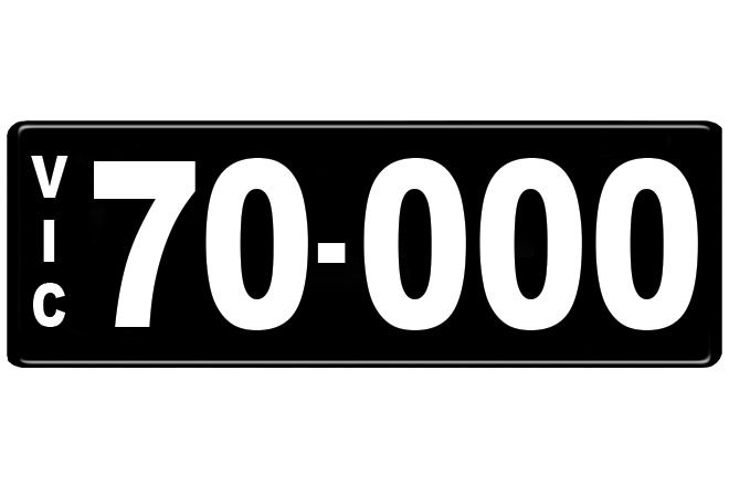 Number Plates - Victorian Numerical Number Plates '70.000'