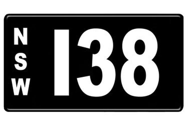 Number Plates - NSW Numerical Number Plates '138'