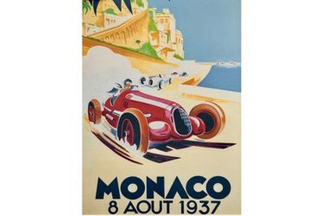 Framed Monaco Print 1937
