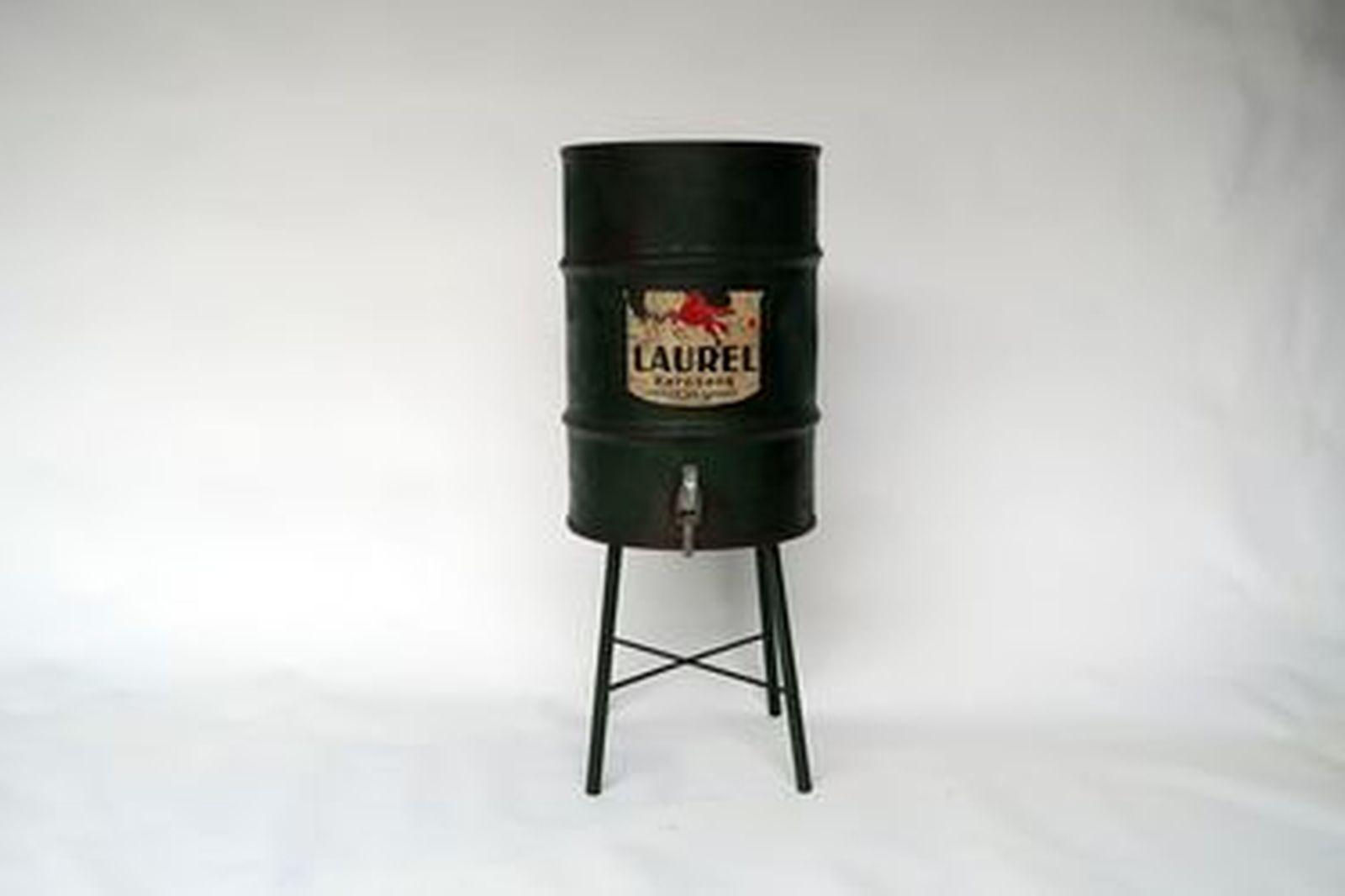 Drum - 12 Gallon Laurel Kerosene on Stand