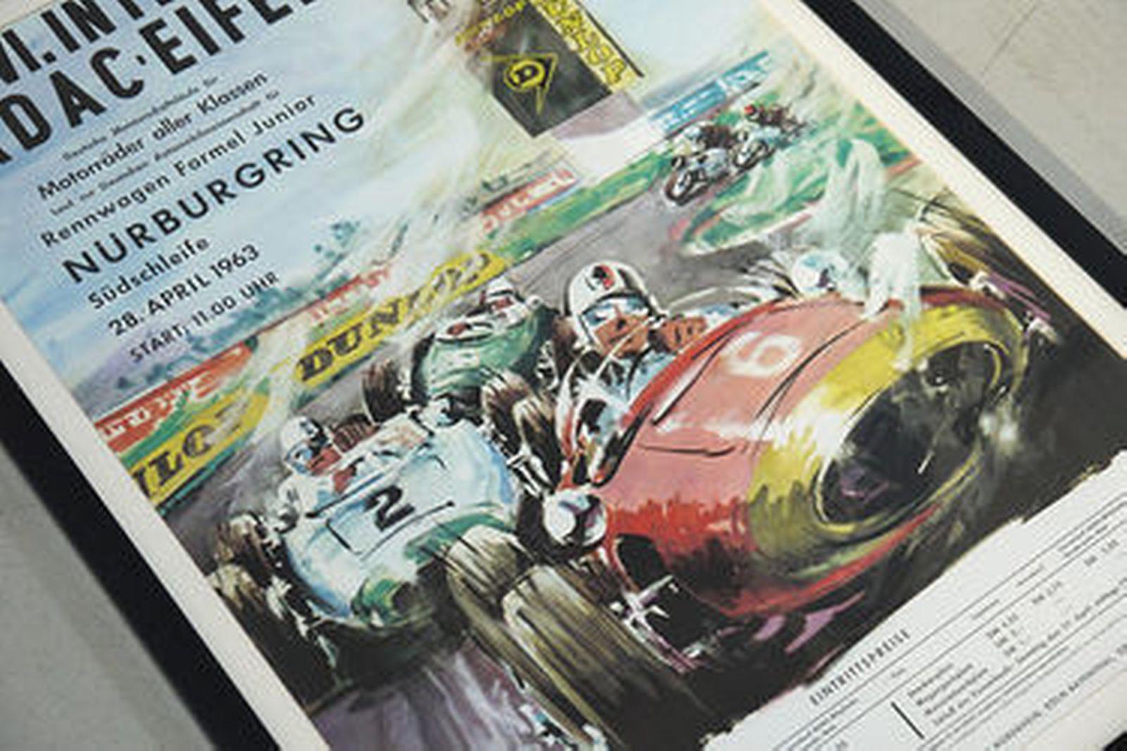 Framed Print - XXVI International ADAC Eifel Race - 28 April 1963 'Nurburgring' (95 x 68cm)