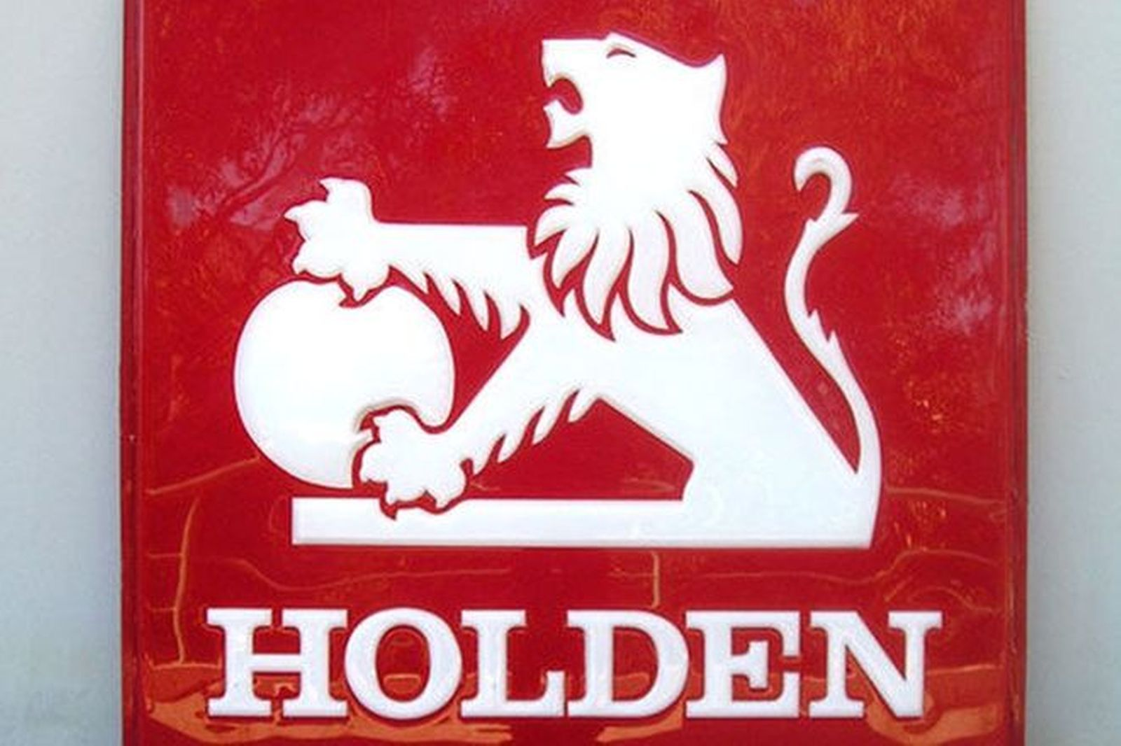 Signs x 2 - Large 'back to back' Holden in perspex ( 1.1 m x 1.1 m)