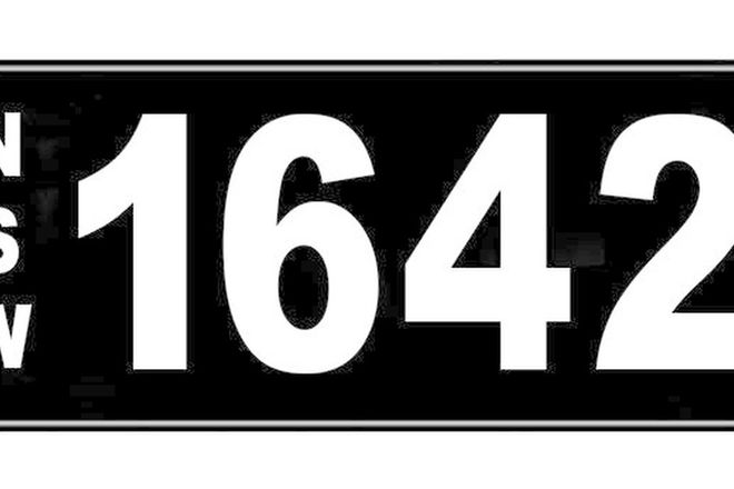 Number Plate - NSW Numerical Number Plate '1642'