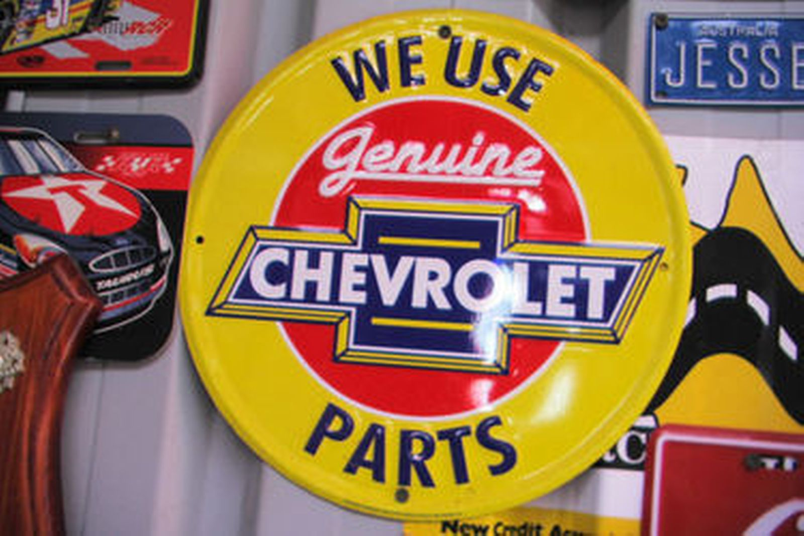 6 x Reproduction Metal Signs (Discs)