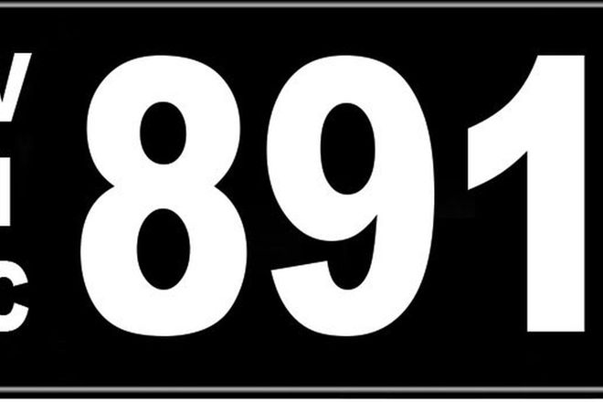Number Plates - Victorian Numerical Number Plates '891'