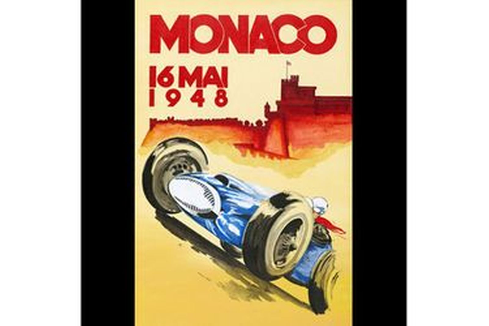 Framed Monaco Print 1948