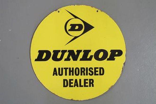 Enamel Sign - Original Dunlop Double Sided Sign (46cm Diameter)